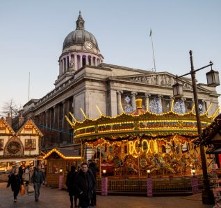 Christmas Markets with City Hall in the background